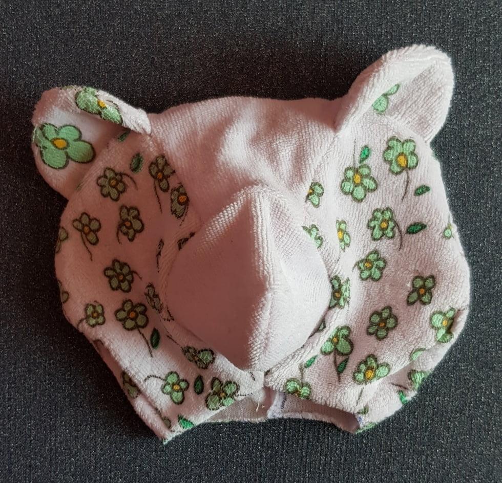 Tête du nounours souvenir de naissance