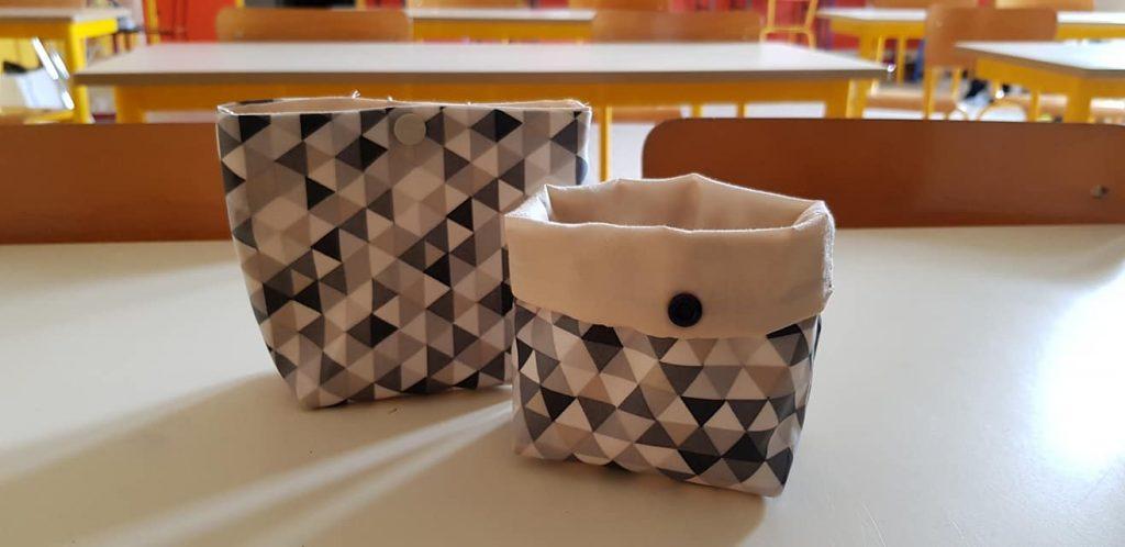 Tuto de la panière en tissu modulable et son filet de lavage (pour une dizaine de lingettes) - Les Bricoles de Gwenn