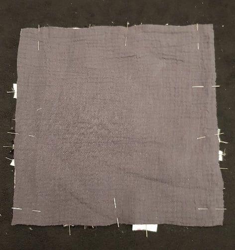 Epinglage tissu
