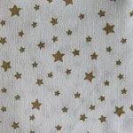 blanc étoiles dorées